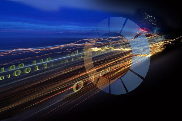 Das Bild zeigt symbolisch einen digitalen Gateway