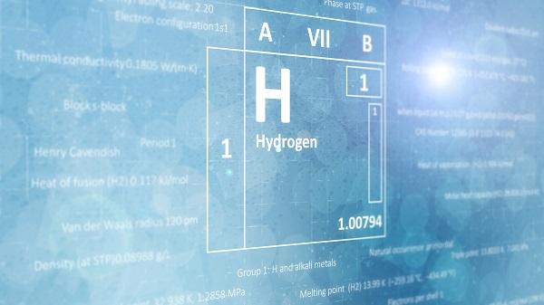 Bild des chemischen Symbols für Wasserstoff